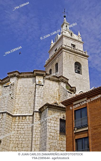 Iglesia de Santa Maria, Santa Maria church, Tordesillas, Duero Valley, Valladolid, Castilla y Leon, Spain