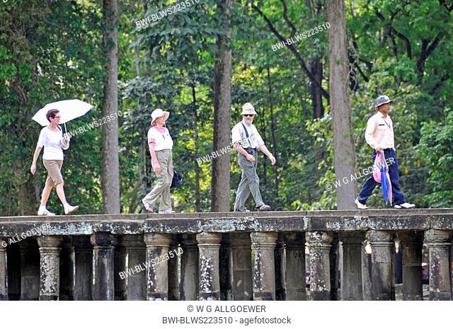 tourists in Wat Baphuon, Cambodia, Siem Reap, Angkor Wat