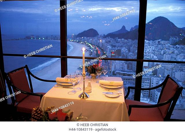Brazil, South America, Rio de Janeiro, Restaurant Le Saint Honore, Hotel Le Meridien, South America, Restaurant, Insid