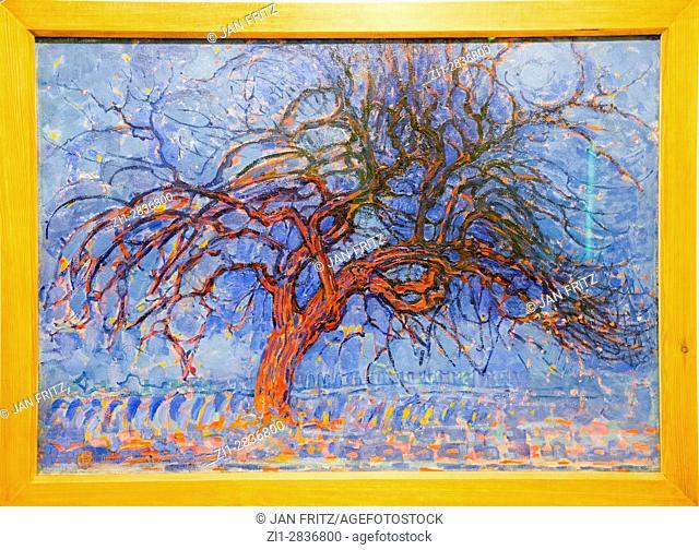 'evening:the red tree', from piet mondriaan, 1908-1910