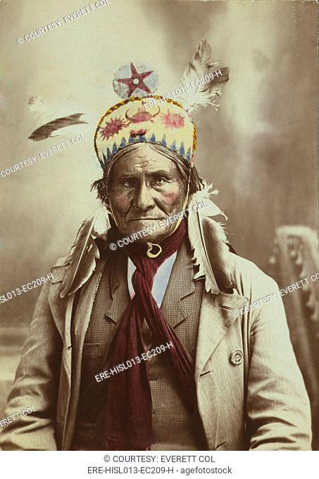 Geronimo 1829-1909, Chiricahua Apache warrior, 1903 portrait by J.W. Collins