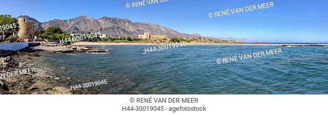 Venetian castle, rocky coast, Frangokastello, Greece