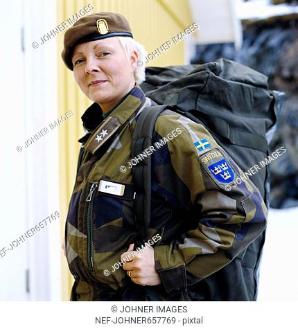 A female UN soldier, Sweden