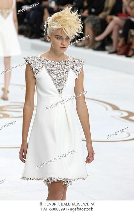d7a50de0412a73 Models present Chanel fall winter 2014 2015 collection during the Paris  Haute Couture fashion