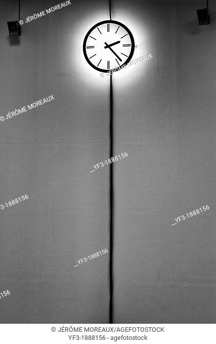 Clock in a museum, Paris, France