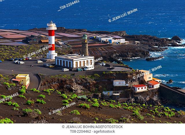 spain,canary islands, la palma : fuencaliente faro, lighthouse