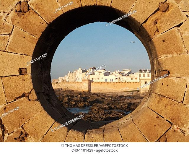 Morocco - View of the eighteenth-century town of Essaouira with its ramparts  Essaouira probably is Morocco's most attractive seaside town and lies at the...