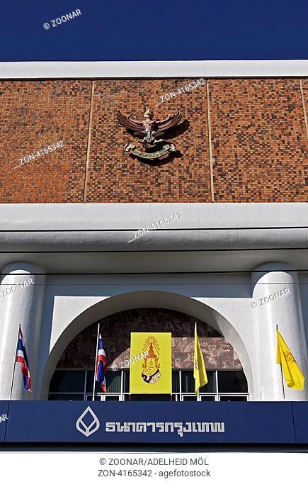 Filiale der Bangkok Bank, Chiang Mai, Thailand, Südostasien Bangkok Bank, Chiang Mai, Thailand, Southeast Asia