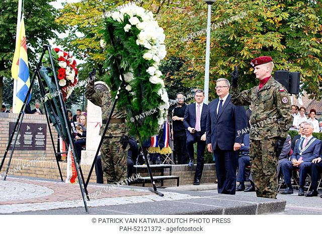 President Bronislaw Komorowski of Poland attend the 70th commemoration of operation Market Garden, the start of liberation in The Netherlands in September 1944