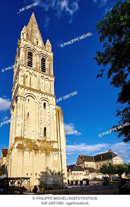 France, Indre-et-Loire (37), Loches, Beaulieu-lès-Loches, church