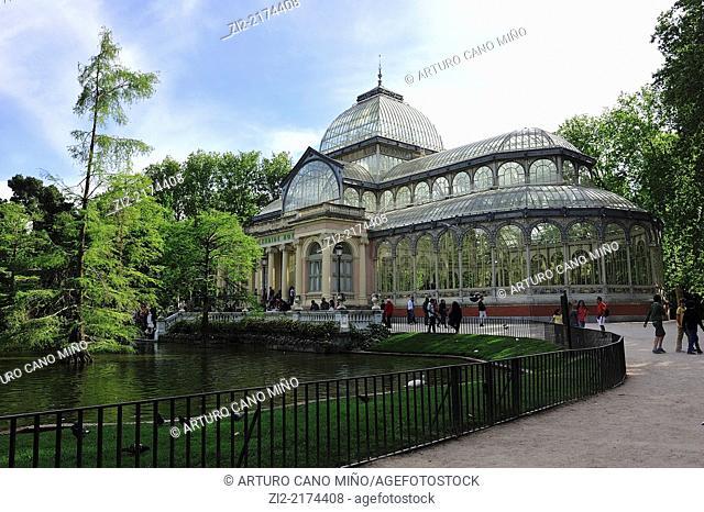 The Crystal Palace, XIXth century. The Buen Retiro Park, Madrid, Spain