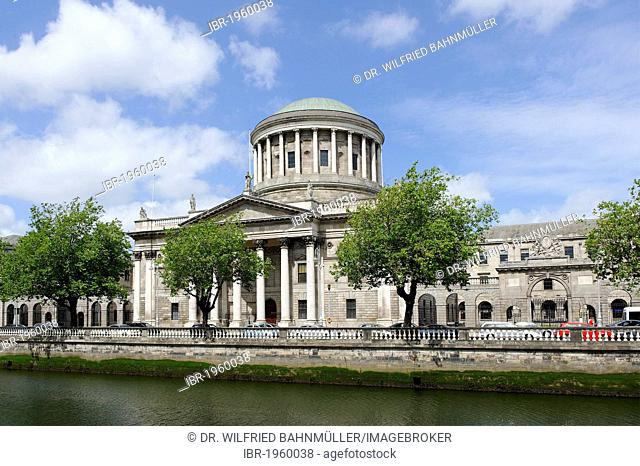 Four Courts high court on the Liffey river, Dublin, Republic of Ireland, Europe