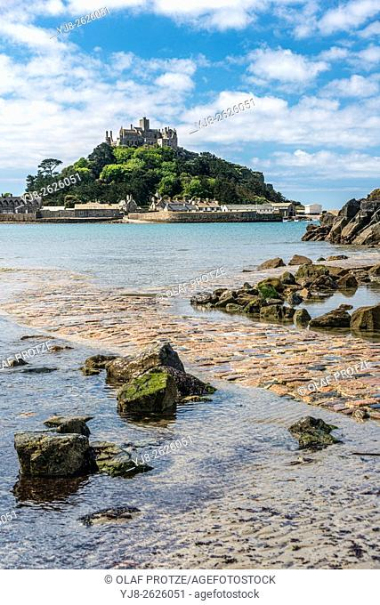 View at St. Michaels Mount, Cornwall, England