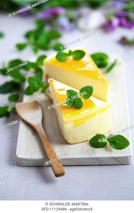 Cheesecake with peppermint
