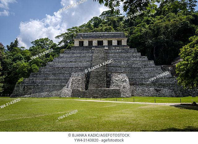 Palenque, Temple of the Inscriptions, ruins of Maya city in southern Mexico, Chiapas, Mexico