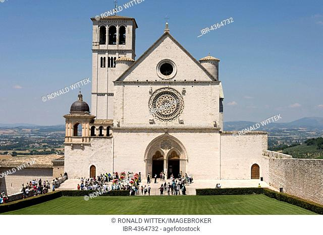 Basilica of Saint Francis of Assisi, church, Assisi, Umbria, Italy Basilica