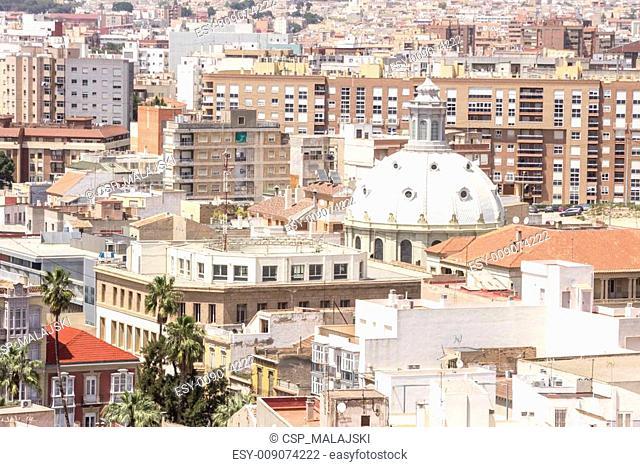 Panorama of Cartagena, Spain