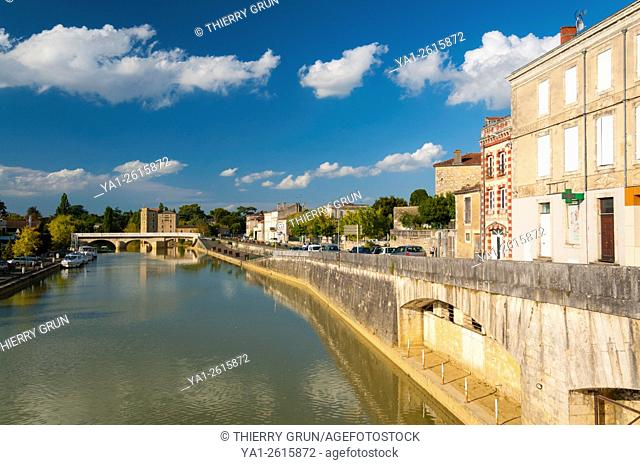 France, Gers (32), Town of Condom, Baise river