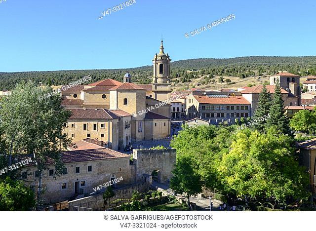 Panoramic of Santo Domingo de Silos, Burgos, Castilla y Leon, Spain
