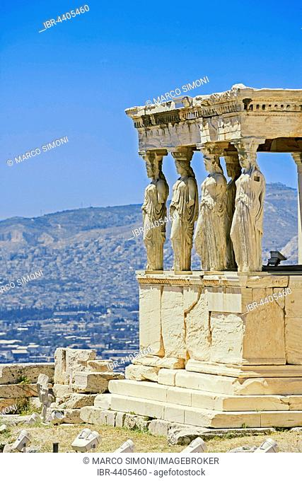 Porch of Caryatids, Erechtheion Temple, Acropolis, Athens, Greece