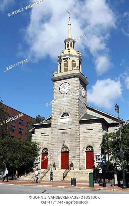 The First Parish Unitarian - Universalist Church, Portland, Maine, USA