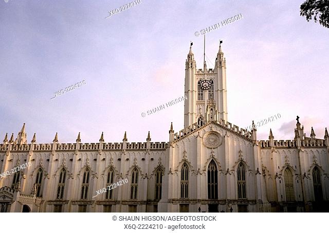 Saint Paul's Cathedral in Calcutta Kolkata in West Bengal in India in South Asia