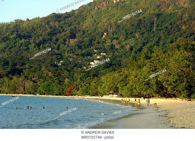 Beau Vallon beach, Mahe, Seychelles, Indian Ocean