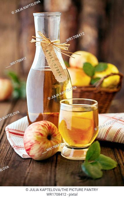 Homemade organic apple cider