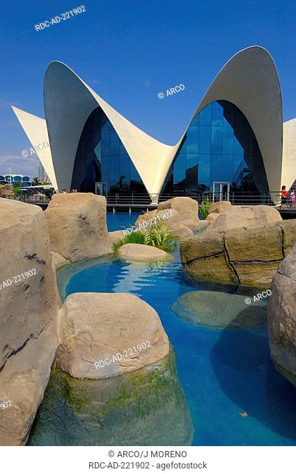 Aquarium of L'Oceanografic, City of Arts and Sciences, Valencia, Spain, underwater restaurant