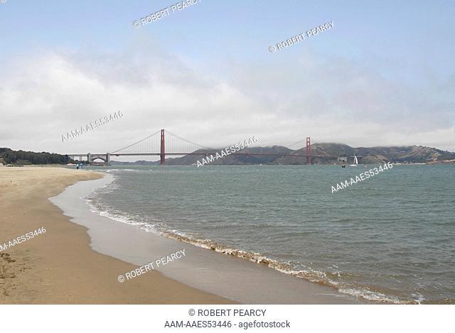 Golden Gate Bridge from Crissy Field Beach   Digital Capture  07-09-2007