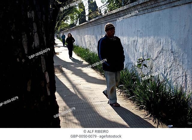 pedestrians; Dr. Arnaldo Avenue; Sao Paulo; SP; Brazil