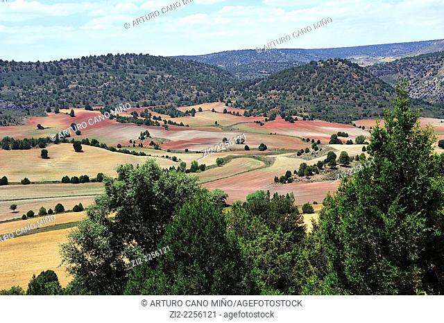 Valley of River Salado. La Loma, Guadalajara, Spain