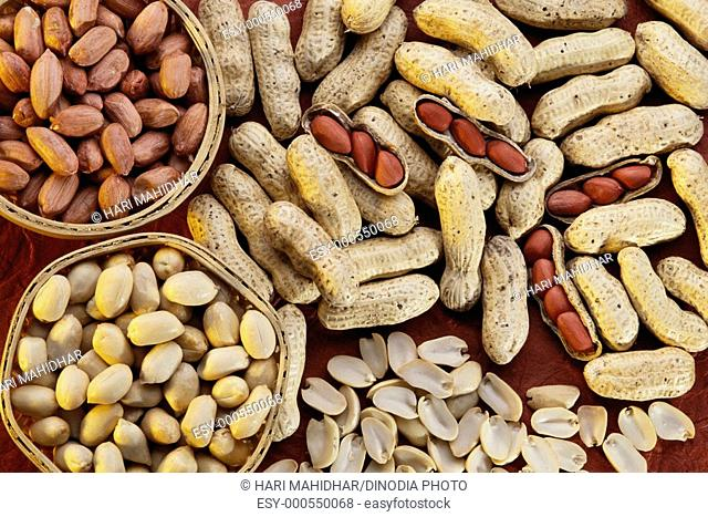 Ground nuts , pea nut , India