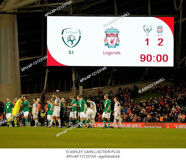 2019 Football Sean Cox Fundraiser Republic of Ireland XI v Liverpool Legends Apr 12th. 12th April 2019, Aviva Stadium, Dublin, Ireland; Charity football