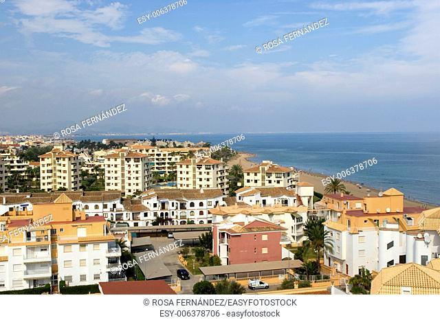 Las Marinas Beach, residential area, Denia, Alicante, Comunidad Valenciana, Spain