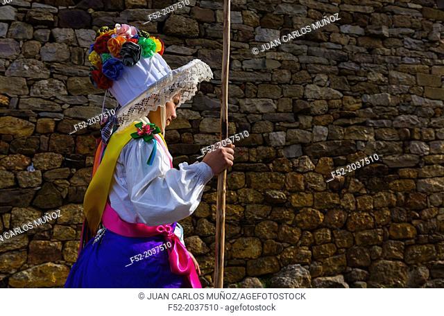Carnival of Zamarrones, Santa Eulalia village, Polaciones valley, Cantabria, Spain, Europe