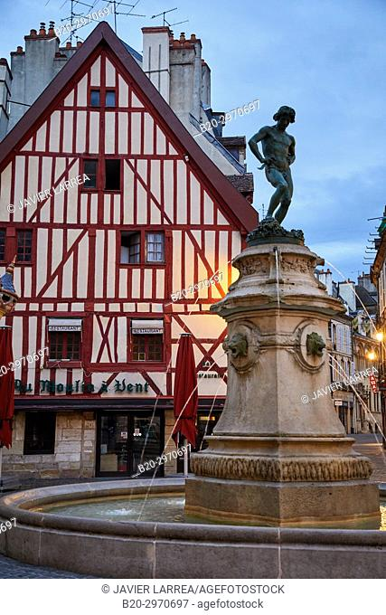 Statue of Bareuzai, Place Francois Rude, Dijon, Côte d'Or, Burgundy Region, Bourgogne, France, Europe