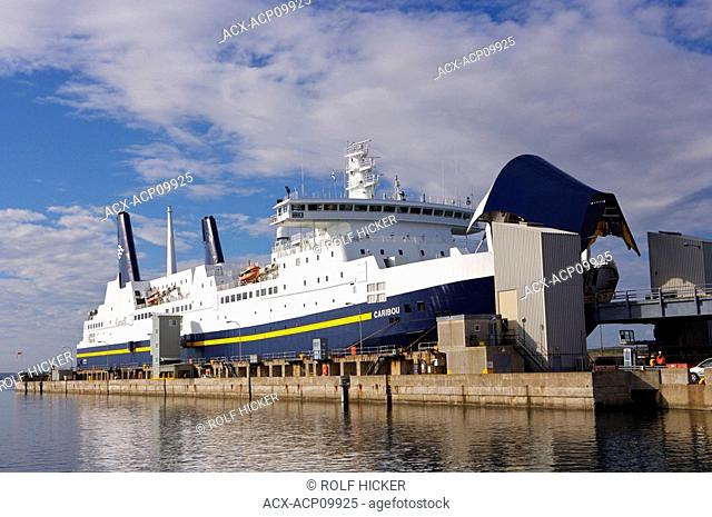 The M/V Caribou Ferry to Port aux Basques at the Marine Atlantic Ferry Terminal in North Sydney, Nova Scotia, Canada