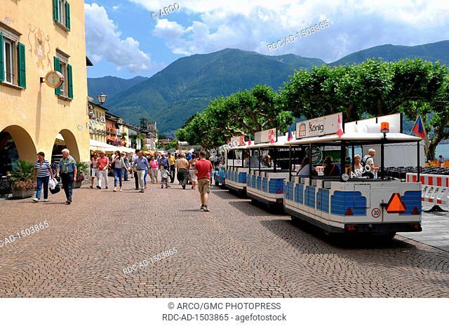 Piazza Grande, Ascona, Lago Maggiore, Ticino, Switzerland