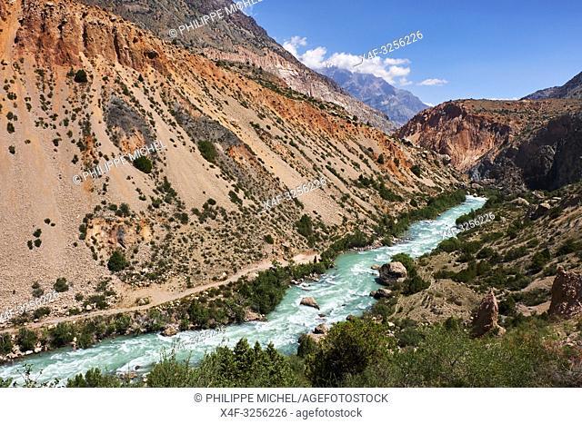 Tadjikistan, Asie centrale, Monts Fan, région du lac d'Iskander Koul / Tajikistan, Central Asia, Fann Mountains, near Iskanderkul Lake