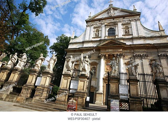 Poland, Cracow, Church of St Peter & St Paul facade
