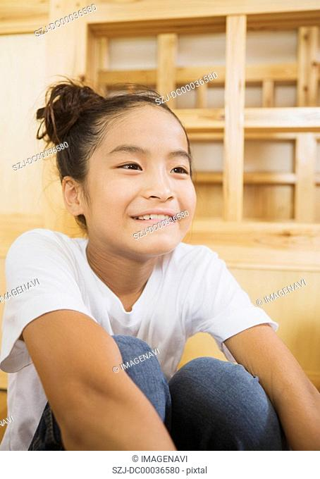 Elementary school girl smiling
