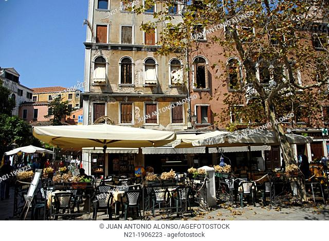 Café in Venice, Veneto, Italy, Europe