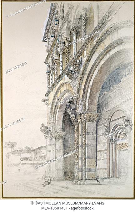 The Duomo of San Martino, Lucca, Italy. John Ruskin