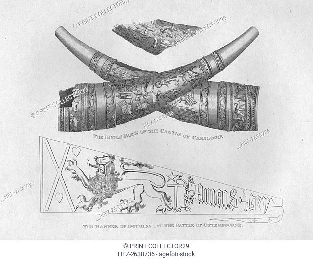 'The Bugle Horn of the Castle of Carslogie' & 'The Banner of Douglas at the Battle of Otterbourne', Artist: John Greig