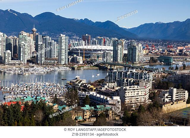 Yaletown and BC Place arena in Vancouver, Canada