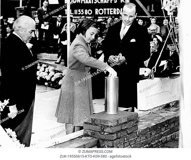June 15, 1955 - Rotterdam, Holland, Netherlands - PRINCESS MARGRIET of the Netherlands daughter of Queen Juliana and Prince Bernhard