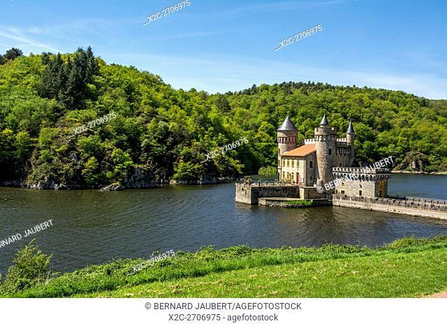 Le Chateau de la Roche in Gorges of Loire. Loire departement. France
