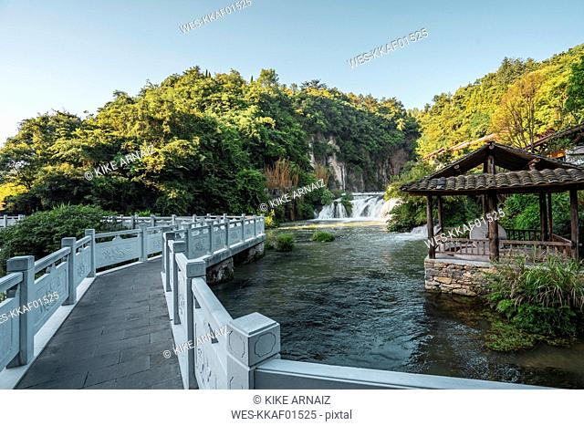 China, Guizhou, Tianhe Pool Park, waterfall