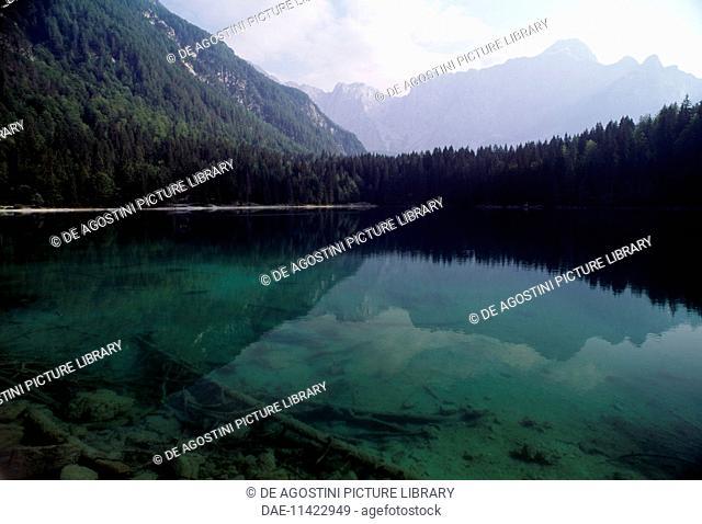 Fusine lower lake, Fusine natural park, Friuli-Venezia Giulia, Italy
